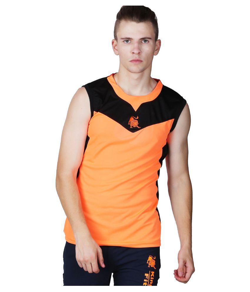 L'appel Du Vide Orange Polyester T Shirt