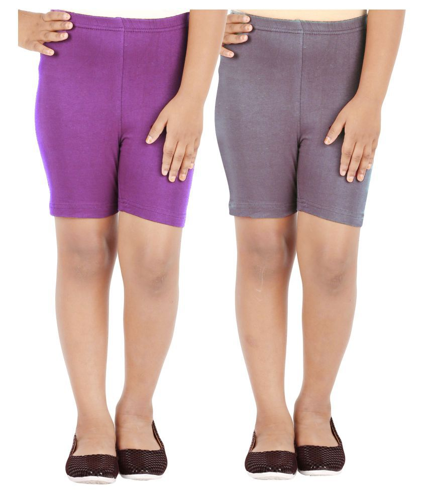 Lula Girls Spandex Shorts (Pack of 2)