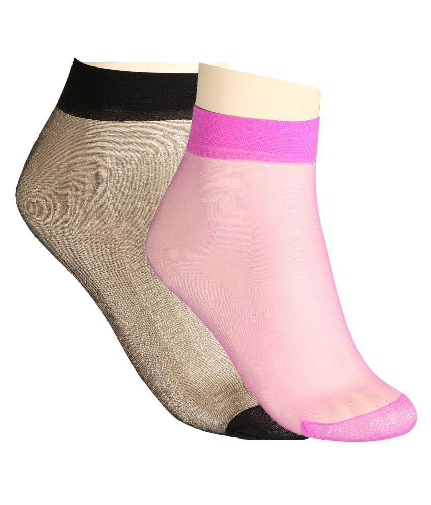 Muquam Multicolour Ankle Length Socks - Pack of 2