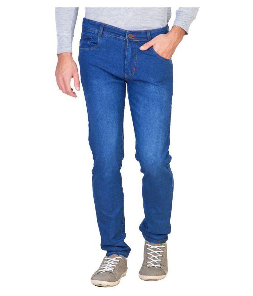 Delux Look Blue Regular Fit Jeans