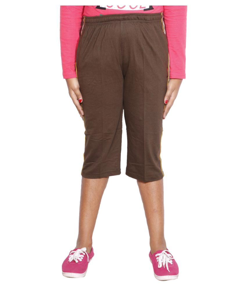 IndiWeaves Girls Regular Fit Casual  Bermudas