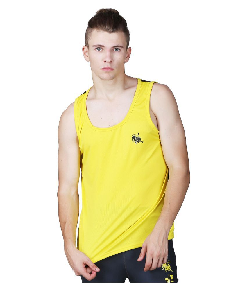 L'appel Du Vide Yellow Polyester T Shirt