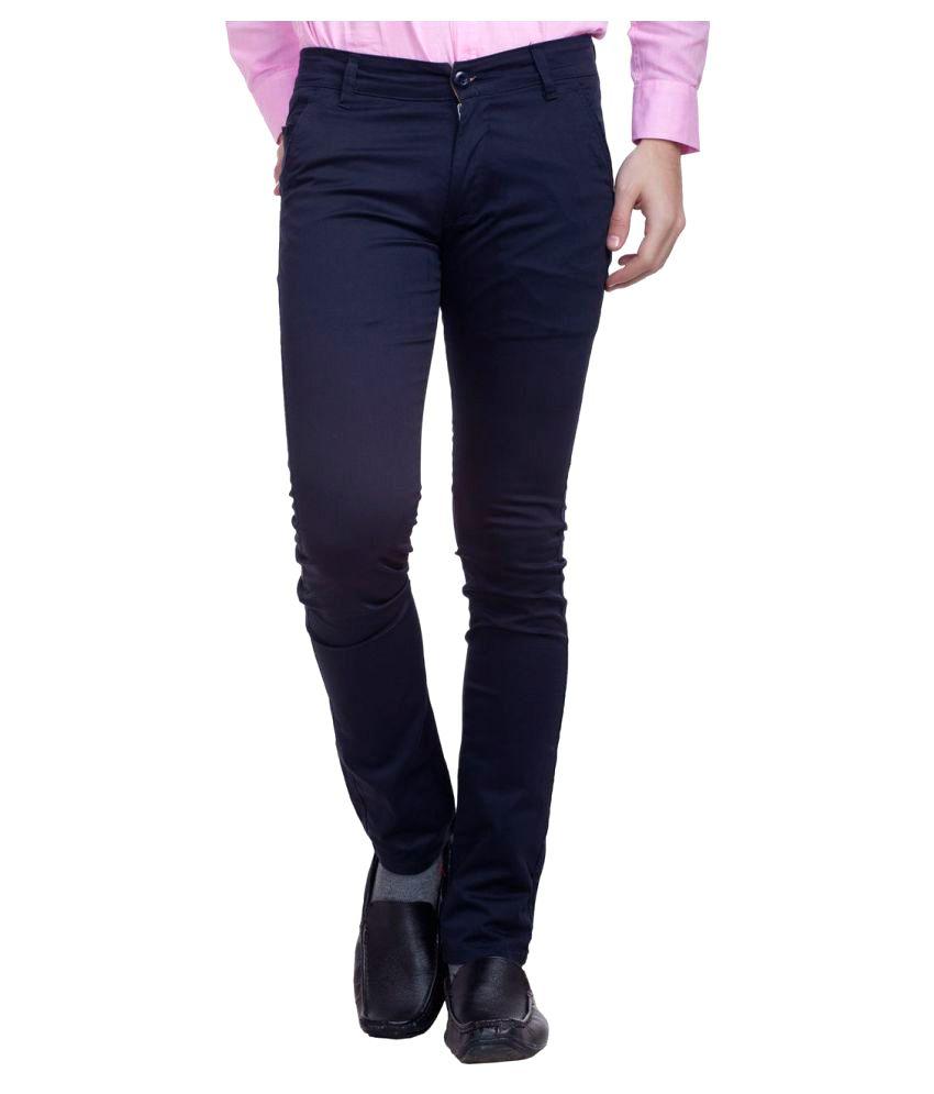Nimegh Dark Blue Slim Flat Trouser