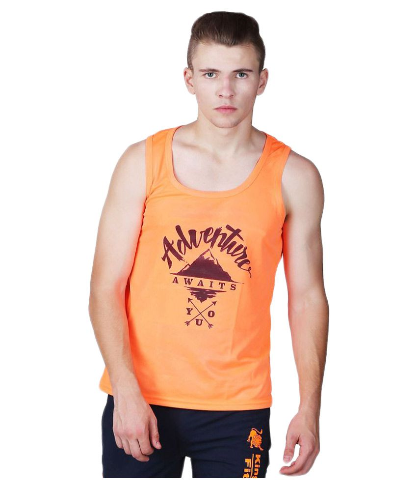 L'appel Du Vide Orange Polyester T Shirt