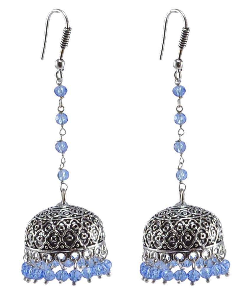 Silvesto India Silver Jhumki Earrings Single Pair