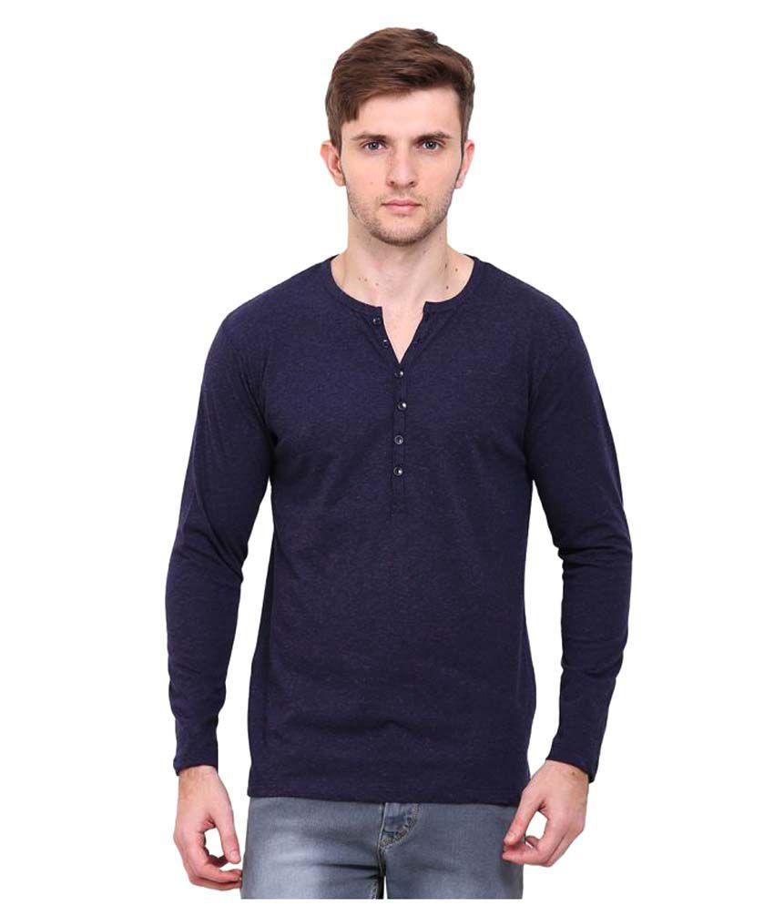 Le Bourgeois Blue Henley T-Shirt