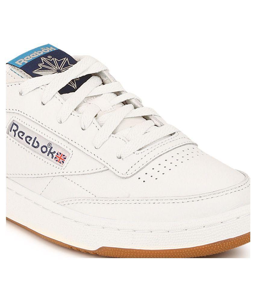 91b8518b Reebok CLUB C 85 RETRO GUM White Tennis Shoes - Buy Reebok CLUB C 85 ...