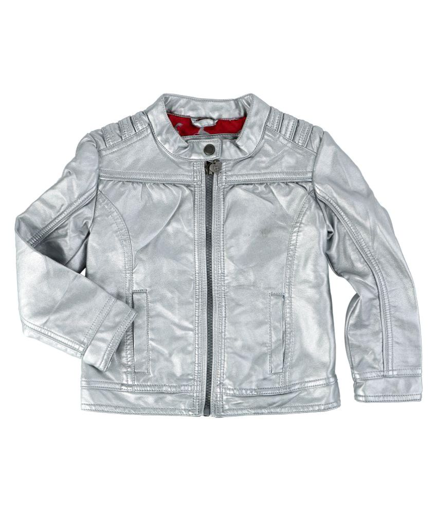 One Friday Silver Leather Jacket