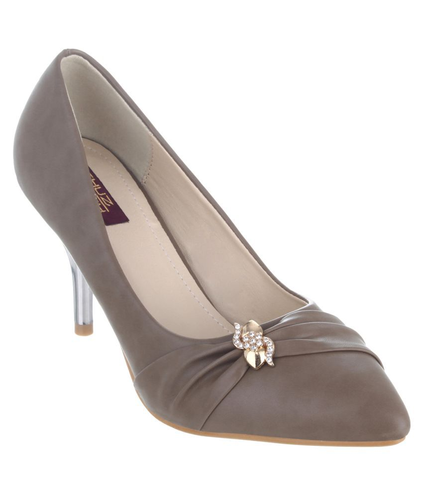 Shuz Touch Khaki Stiletto Heels