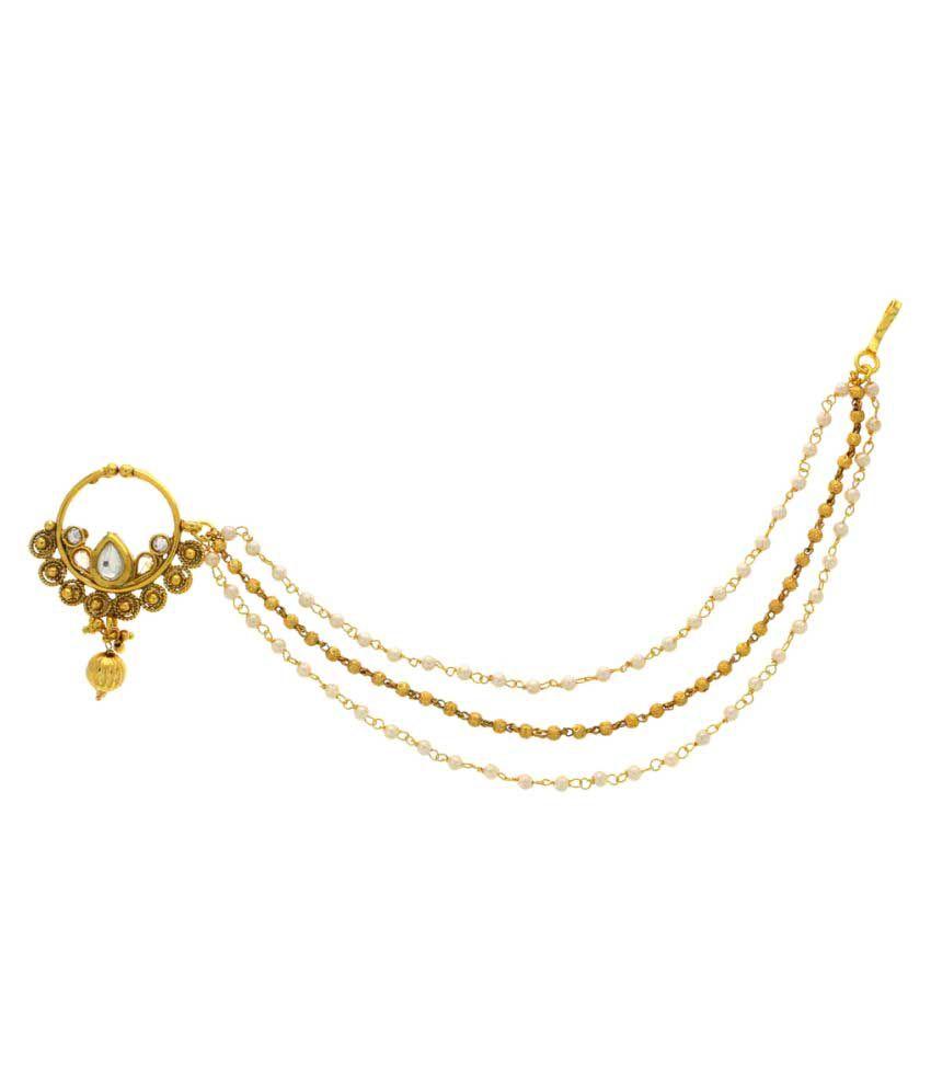 Anuradha Art Golden Alloy Nath