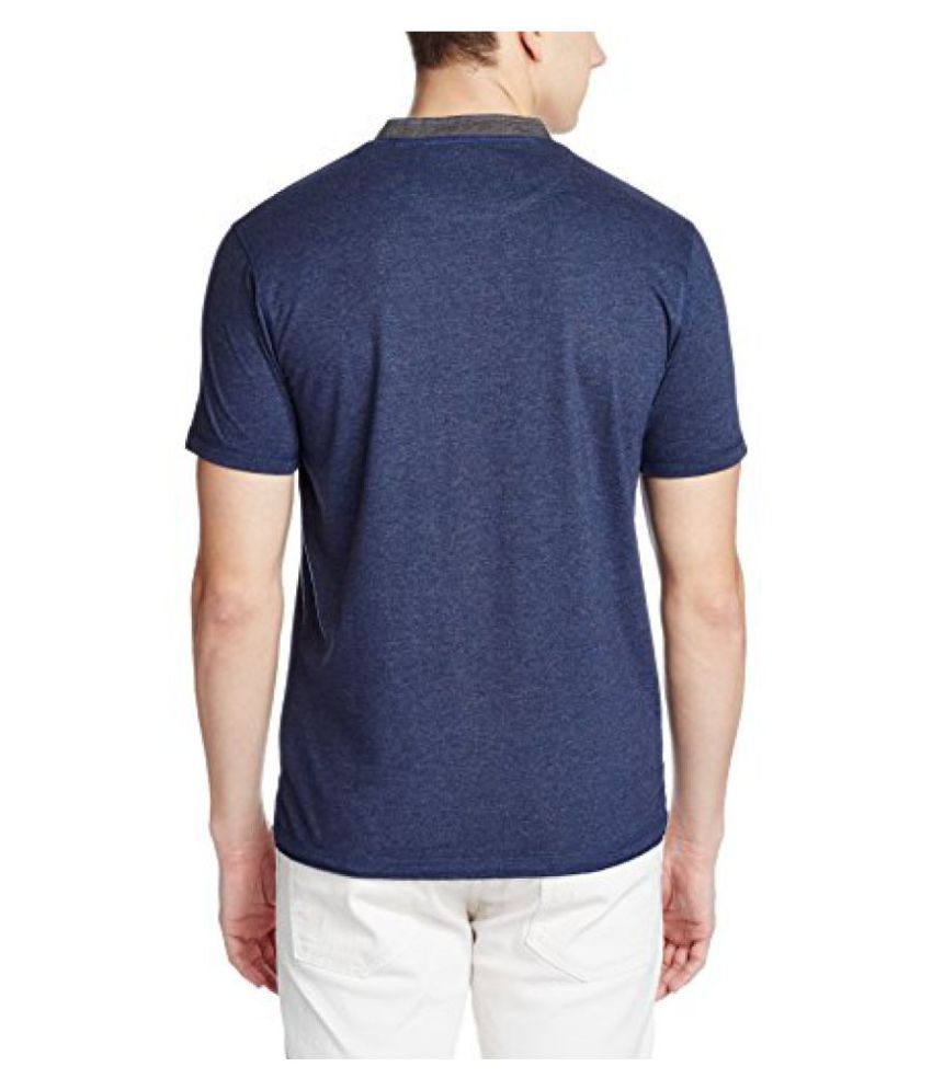 Indian Terrain Navy Henley T-Shirt