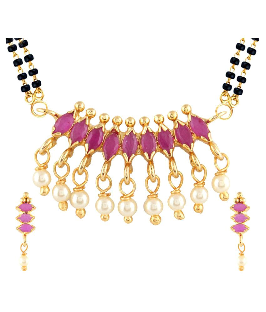 Parinaaz Multi Colour Alloy Mangalsutra Set For Women