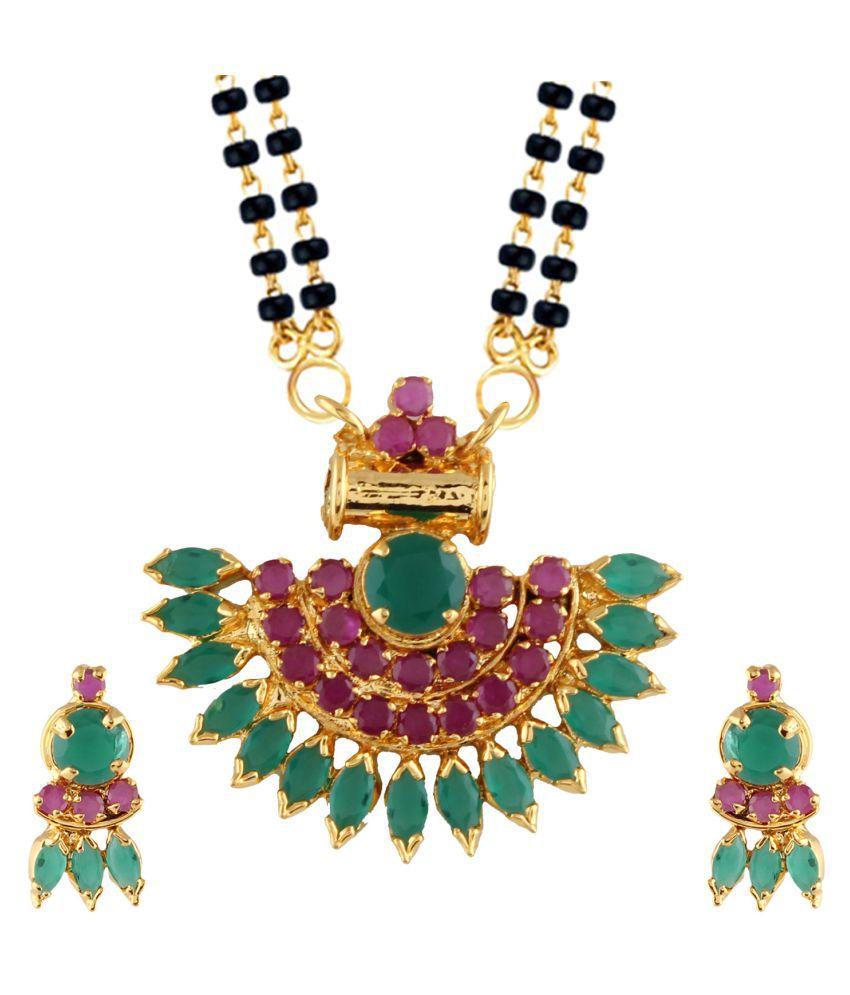 Parinaaz Multicolor Alloy Mangalsutra Set