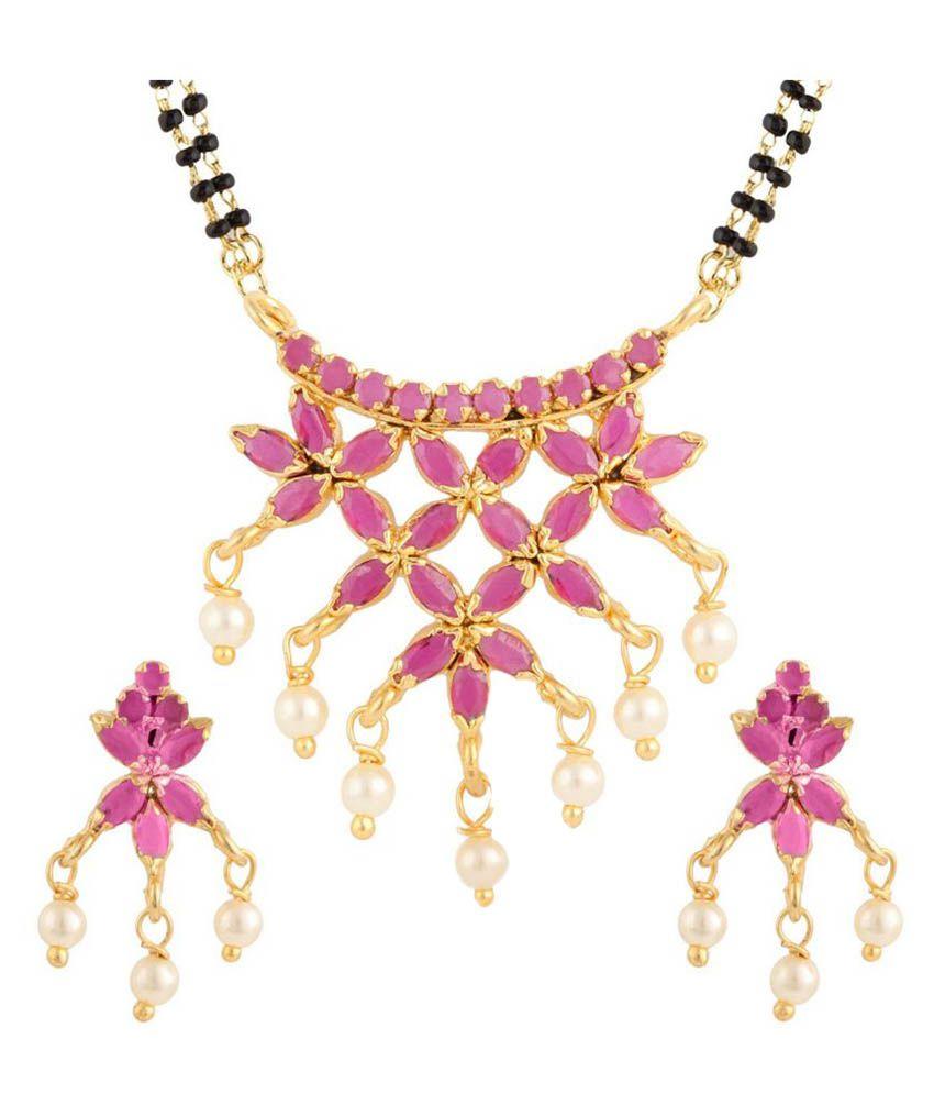 Parinaaz Pink Mangalsutra Set