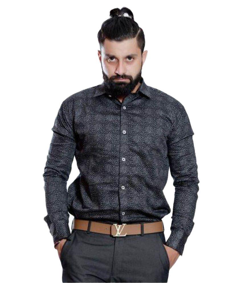Rellin Black Casuals Slim Fit Shirt