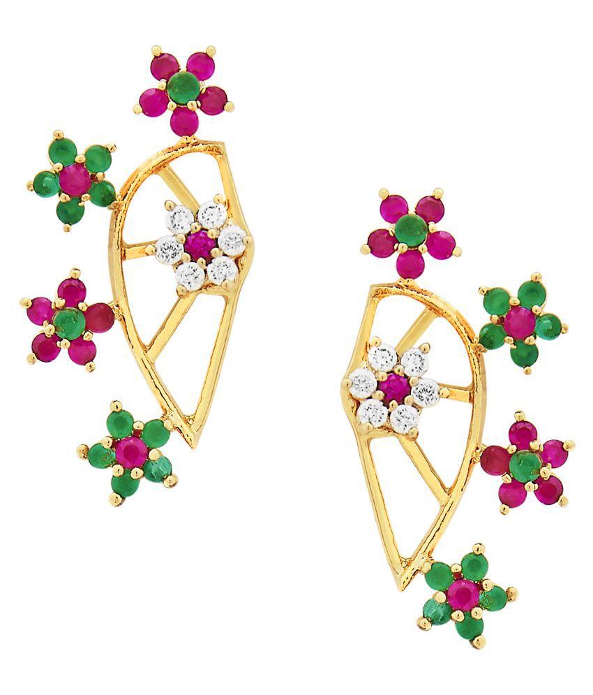Efulgenz CZ Cuff Earring for women