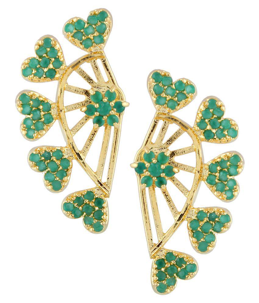 Efulgenz Multicolour Alloy CZ Cuff Earring