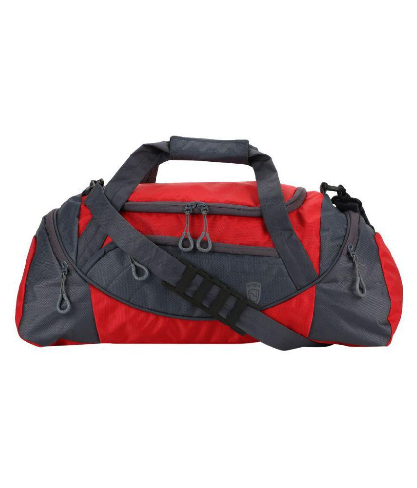 Novex Red Medium Polyester Gym Bag