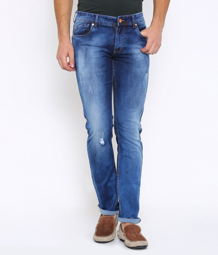 Vintage Dark Blue Slim Jeans