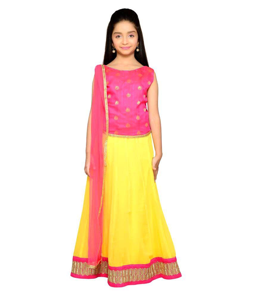 6f397c5588 K&U Yellow Lehenga Choli Sets - Buy K&U Yellow Lehenga Choli Sets Online at Low  Price - Snapdeal