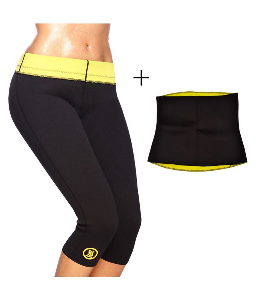 Medineeds Hot Shaper Pant & Belt Size_L With One Touch Tech Logo Keychain
