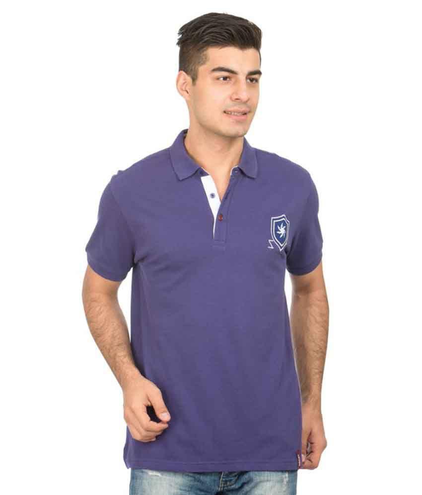 Zeven Blue Cotton Polo T-Shirt Single Pack