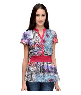 Tunic Nation Poly Crepe Regular Tops
