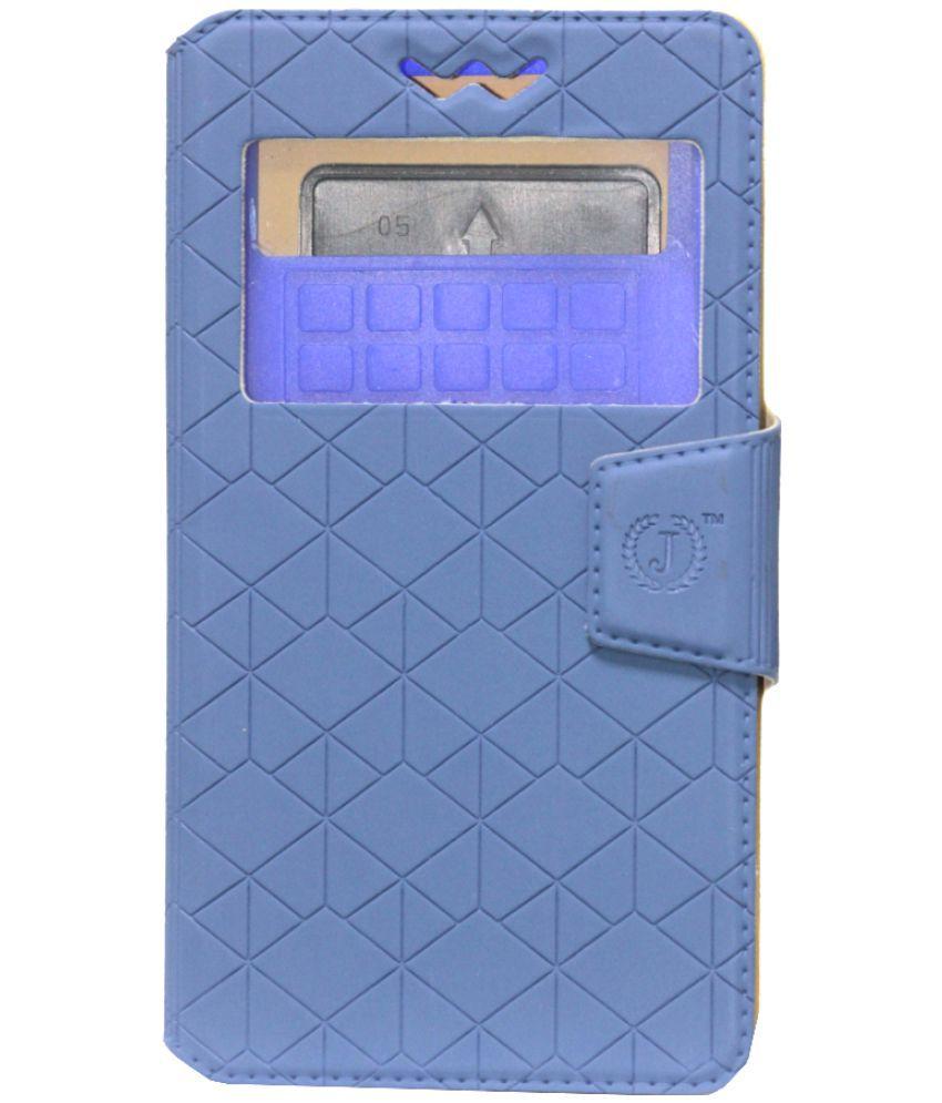 Samsung Galaxy Grand 3 G7200 Flip Cover by Jojo - Blue