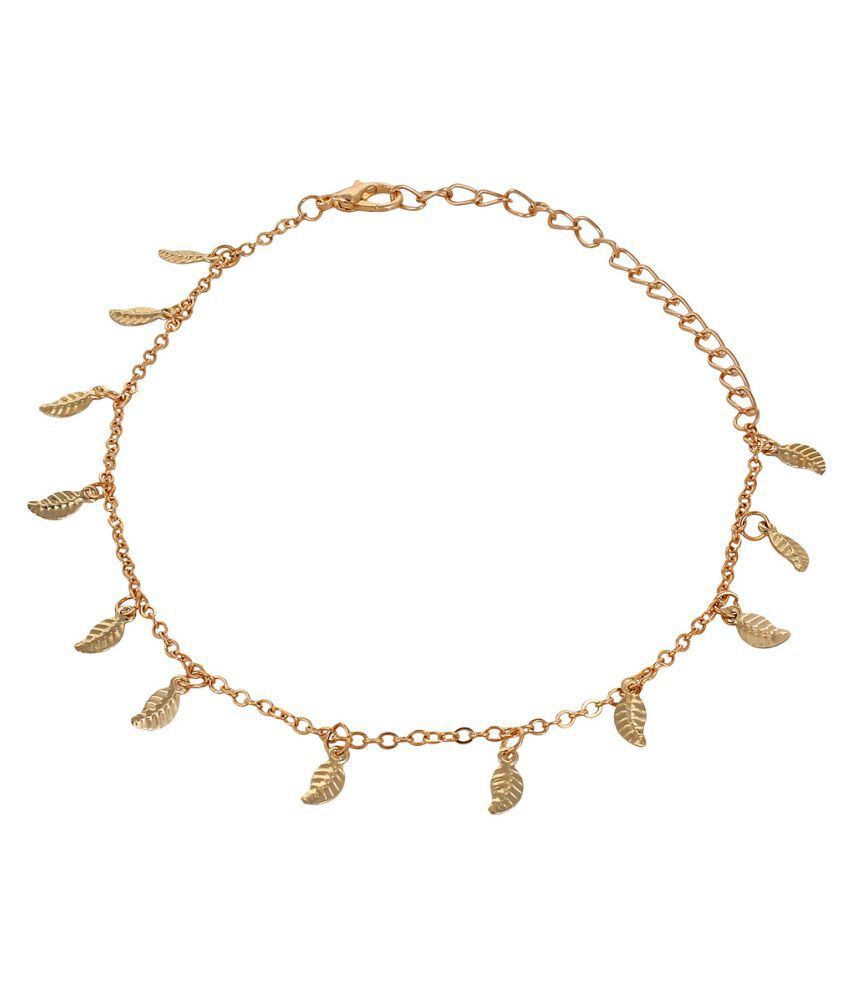 Oomph Golden Alloy Anklet