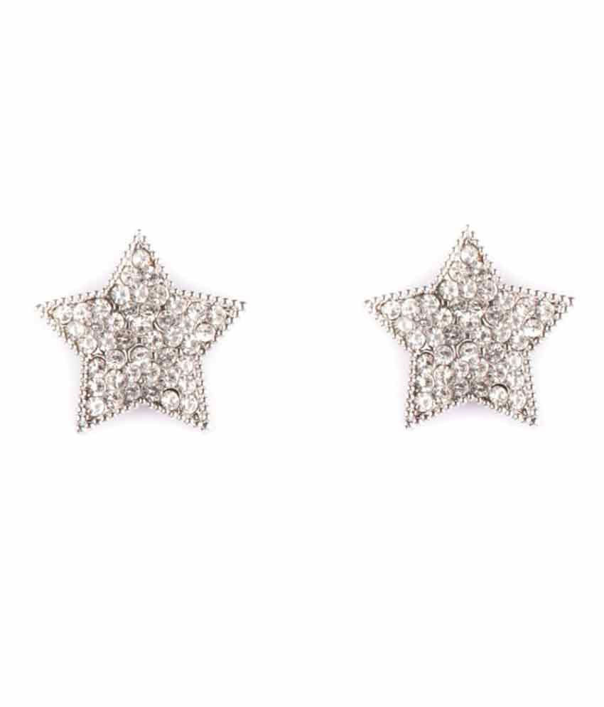 Ayesha Silver Alloy Studs