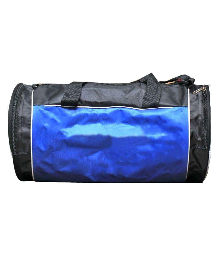 Port Blue Black Medium Polyester Gym Bag