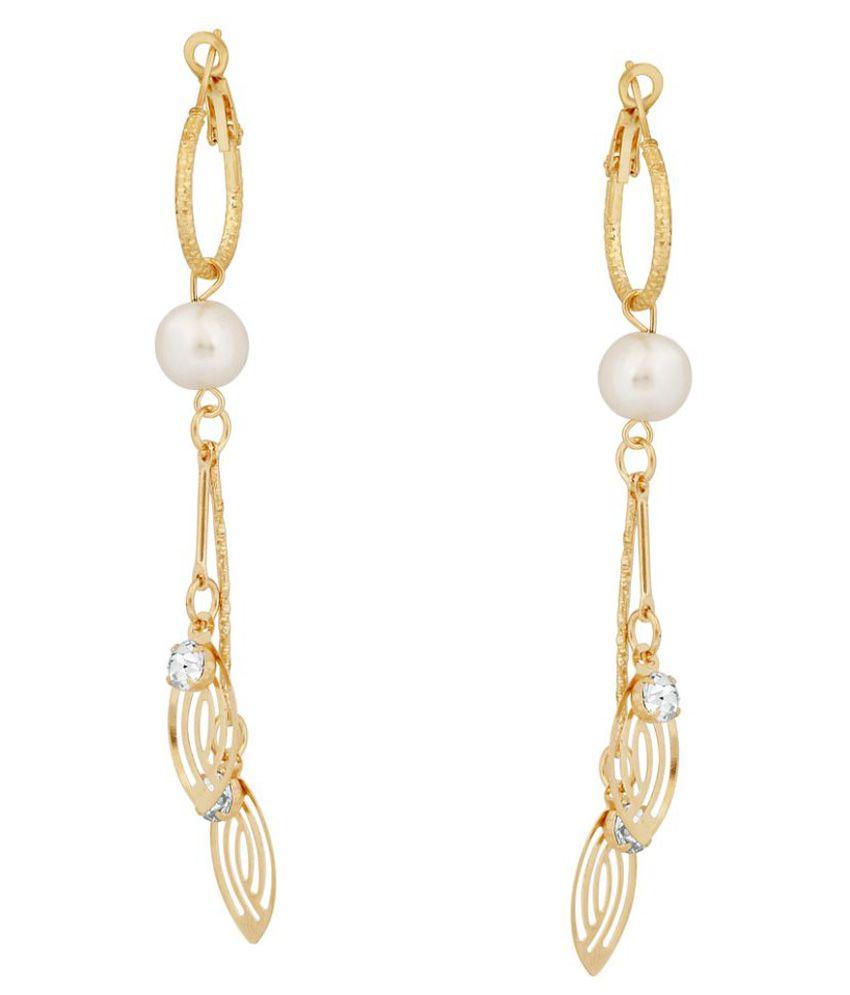 VK Jewels Golden Earrings