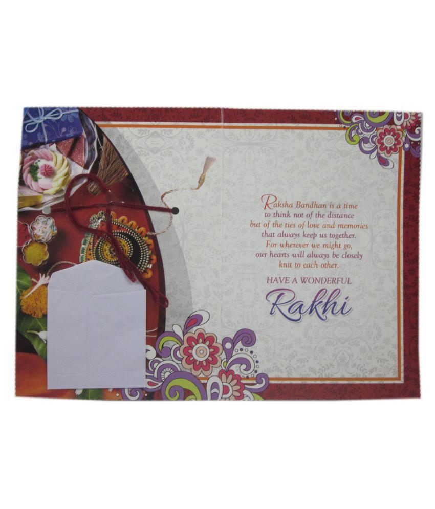 Advance Hotline Multicolor Rakhi Greeting Card With Rakhi Buy