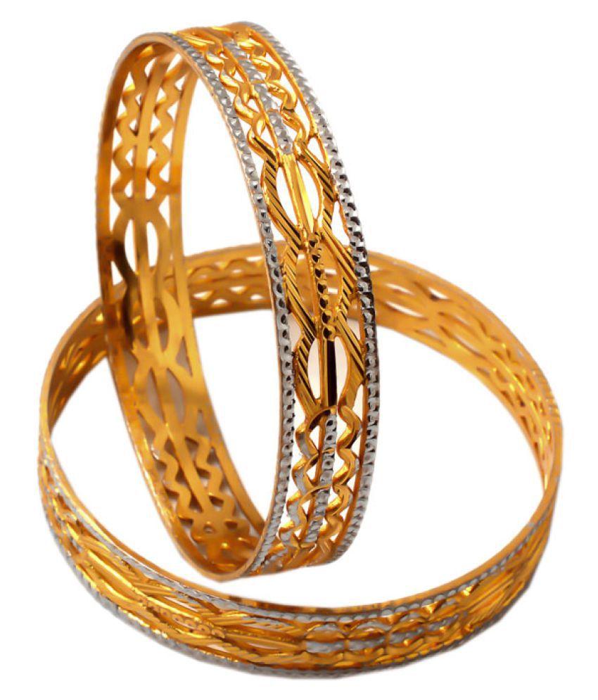 Jewar Mandi Golden Bangle Set
