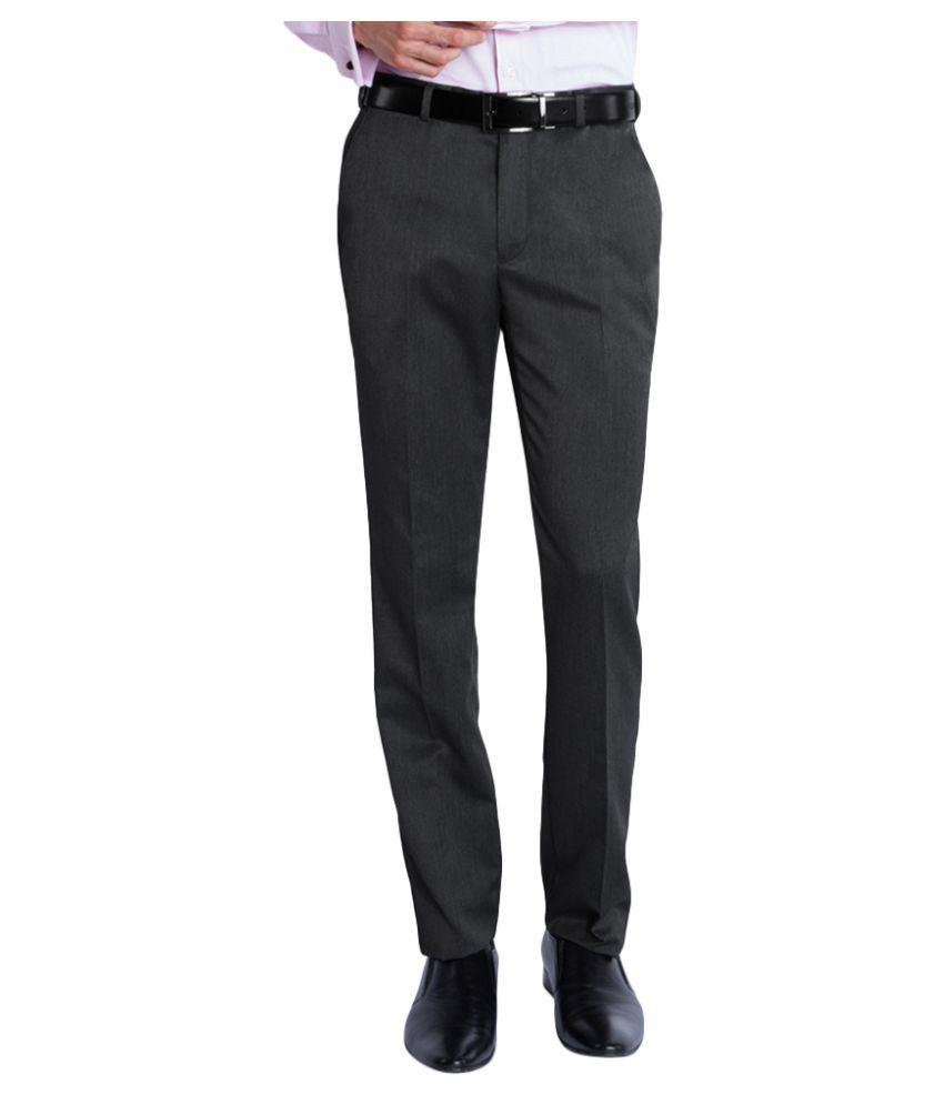 Park Avenue Black Super Skinny Flat Trousers
