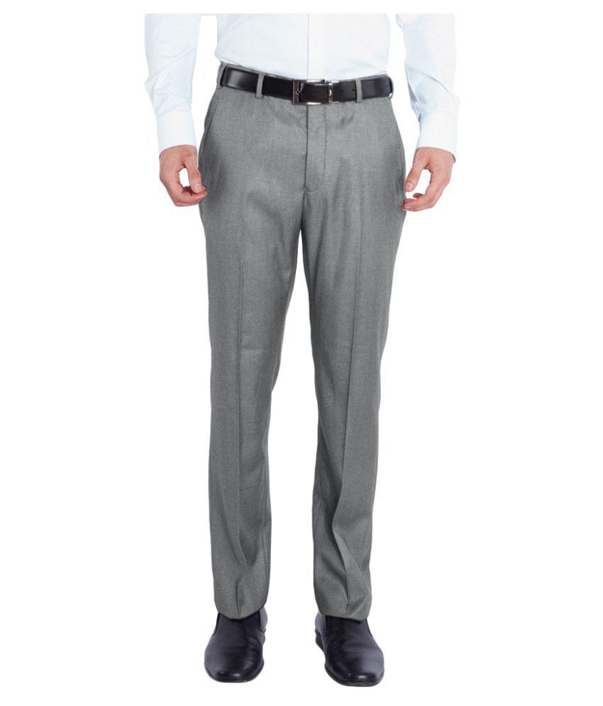Park Avenue Grey Super Skinny Flat Trousers