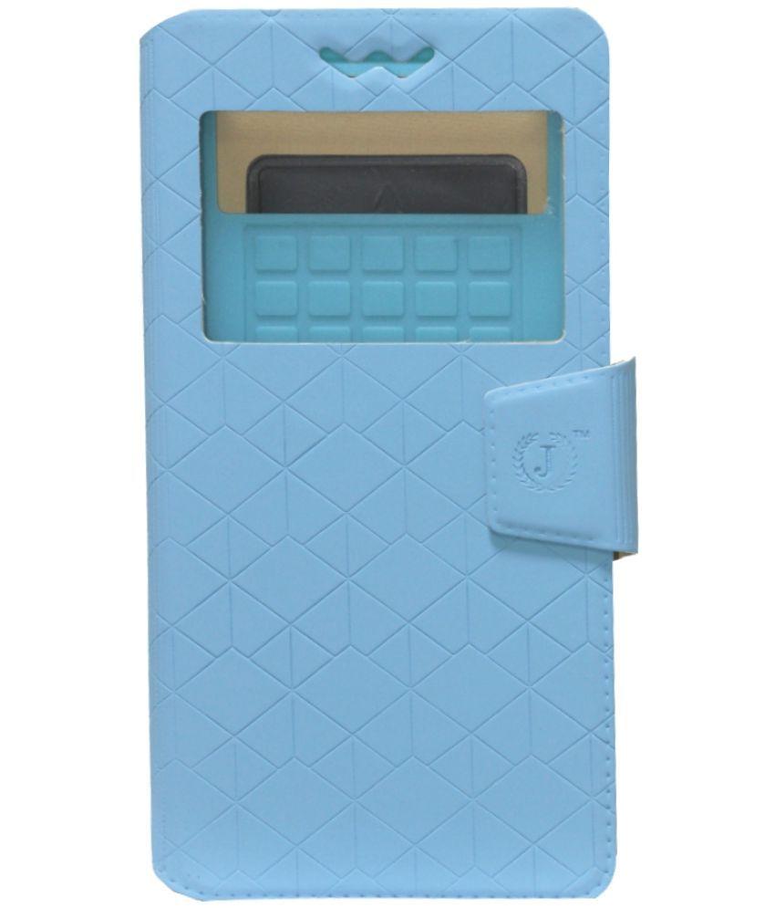 Panasonic Eluga I3 Flip Cover by Jojo - Blue