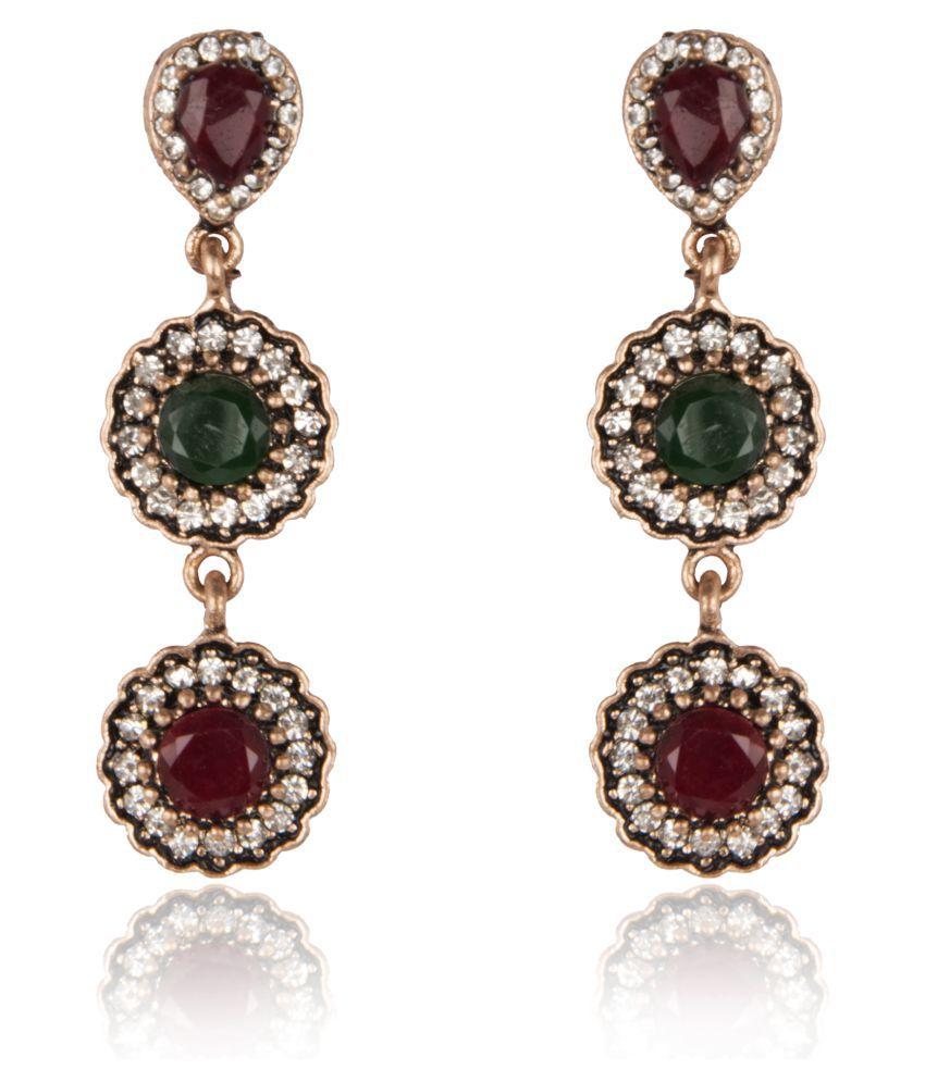Diva Walk Multicolour Hangings Earrings Single Pair