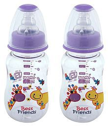 Mee Mee Purple Feeding Bottle - Pack Of 2