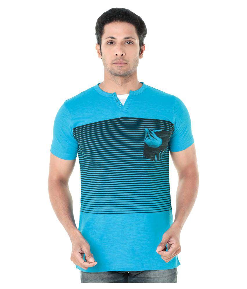 Wexford Blue Henley T-Shirt