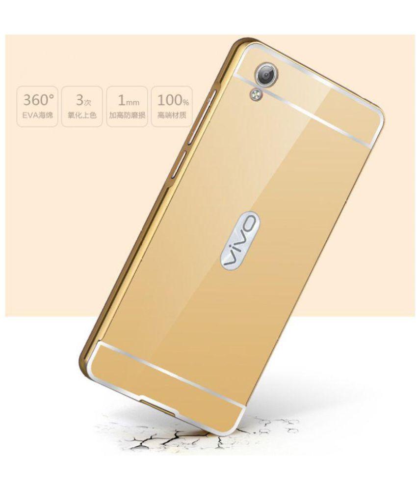 promo code 5e501 8dd6b Vivo V5 Plus Mirror Back Covers NKARTA - Golden