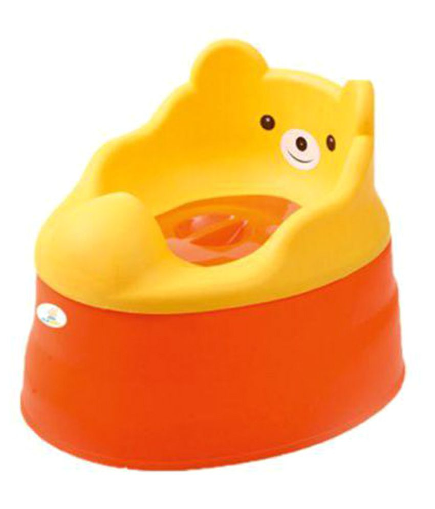 Ole Baby Anti Skid 3 in 1 Cute Smiling Bear Face Multi functional Potty Chair