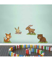 Rawpockets Baby Animals Sticker PVC Wall Stickers