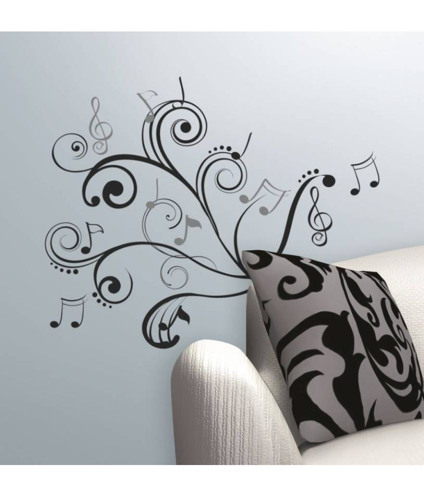 Asian Paints Music Note Scroll Vinyl Wall Stickers Buy Asian
