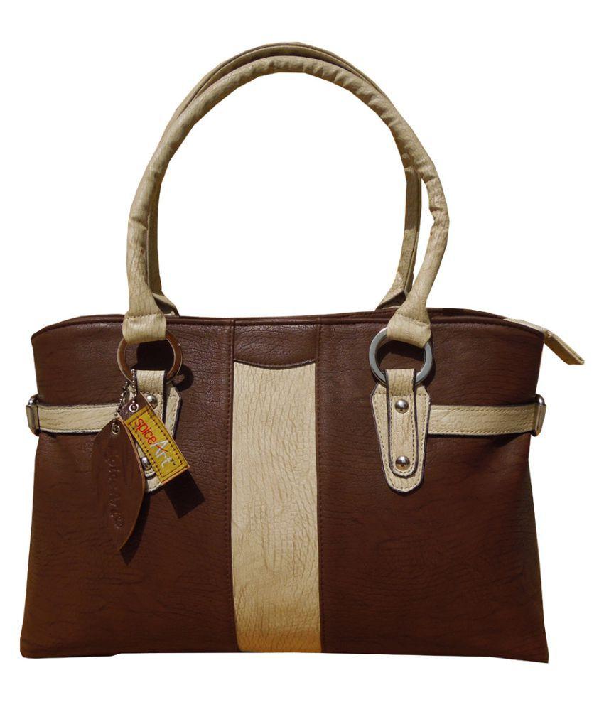Spice Art Brown Faux Leather Shoulder Bag