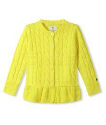 Cherry Crumble California Yellow Cardigan