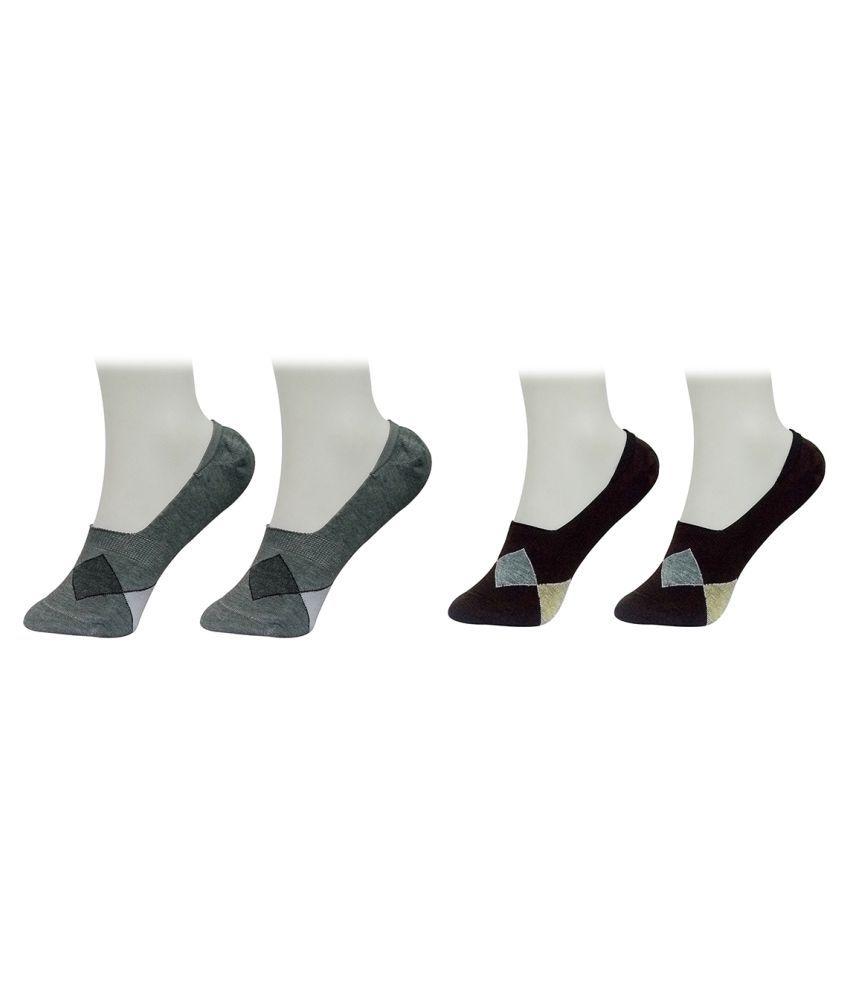 Gold Dust Multi Colour Footies Socks (2 Pair)