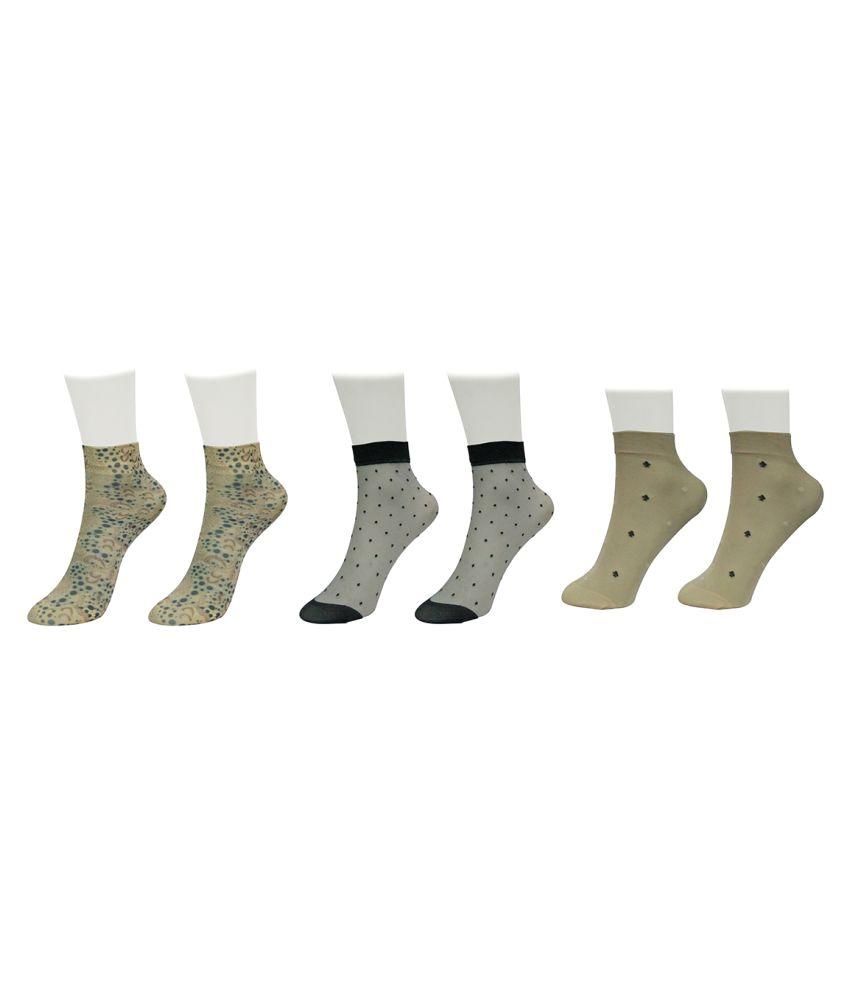 Gold Dust Multicolour Ankle Length Socks - Pair of 3