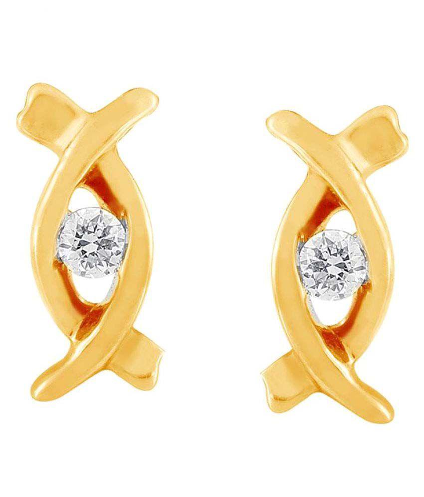 Me-Solitaire 18k BIS Hallmarked Yellow Gold Diamond Studs