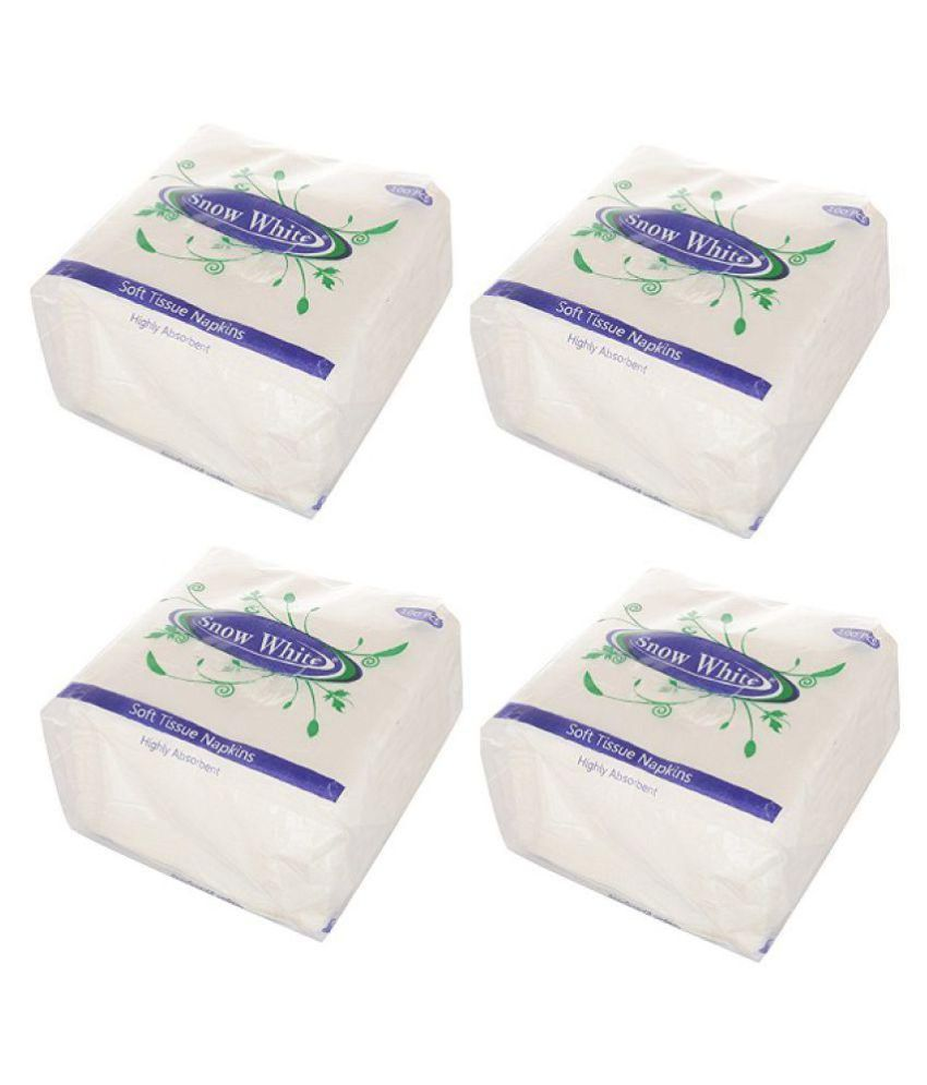 Snow White Paper Face Tissues